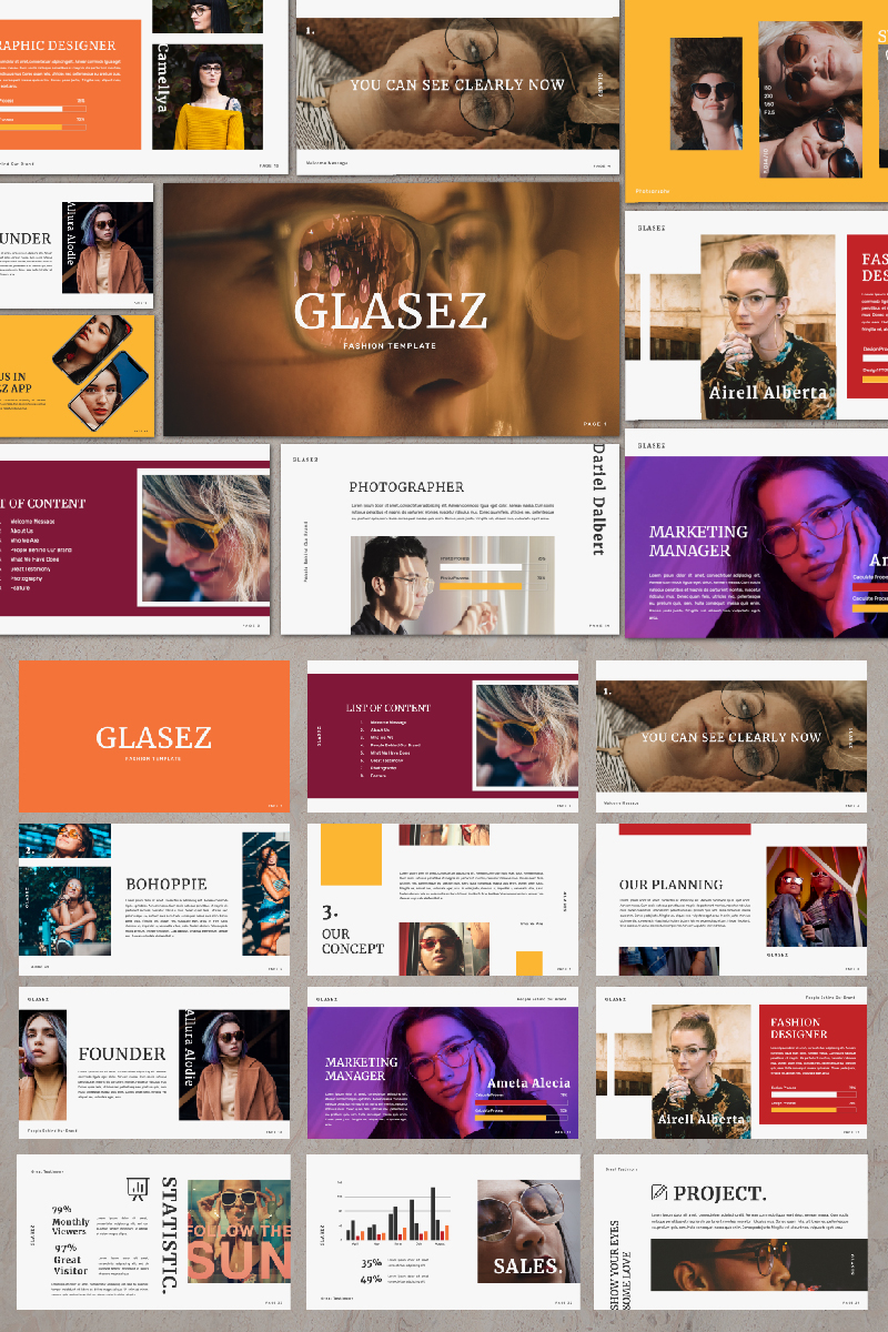 GLASEZ Presentation PowerPoint Template