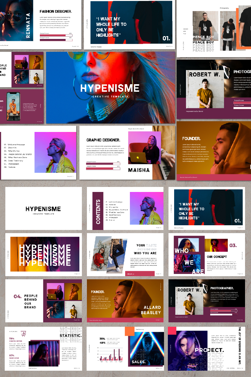 Hypenisme Presentation PowerPoint Template