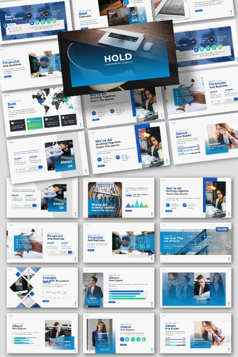 HOLD Presentation PowerPoint Template