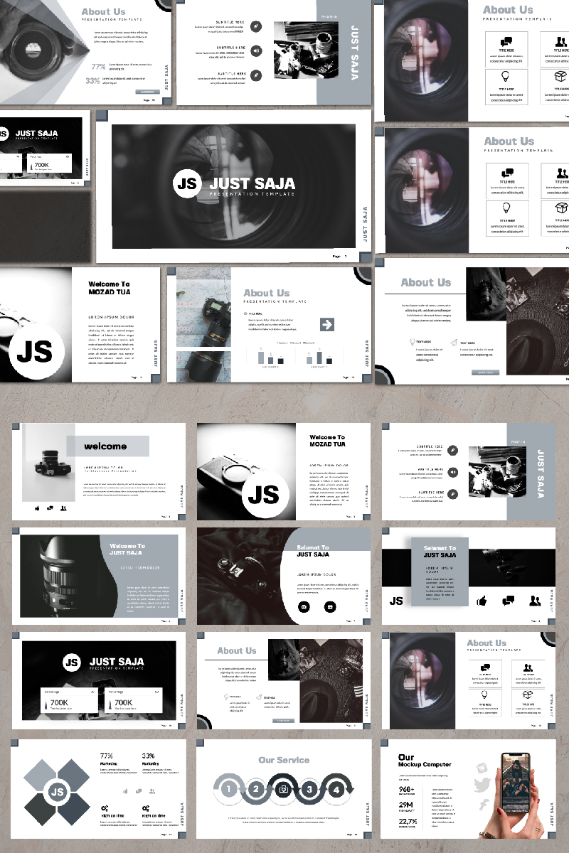 Just Saja Presentation PowerPoint Template