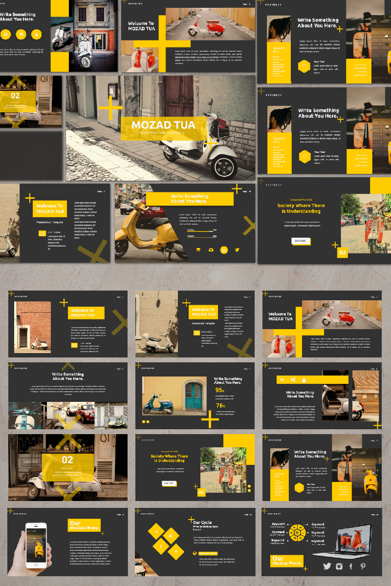 Mozad Tua Presentation PowerPoint Template