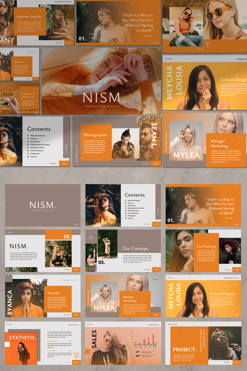 Nism. Presentation PowerPoint Template