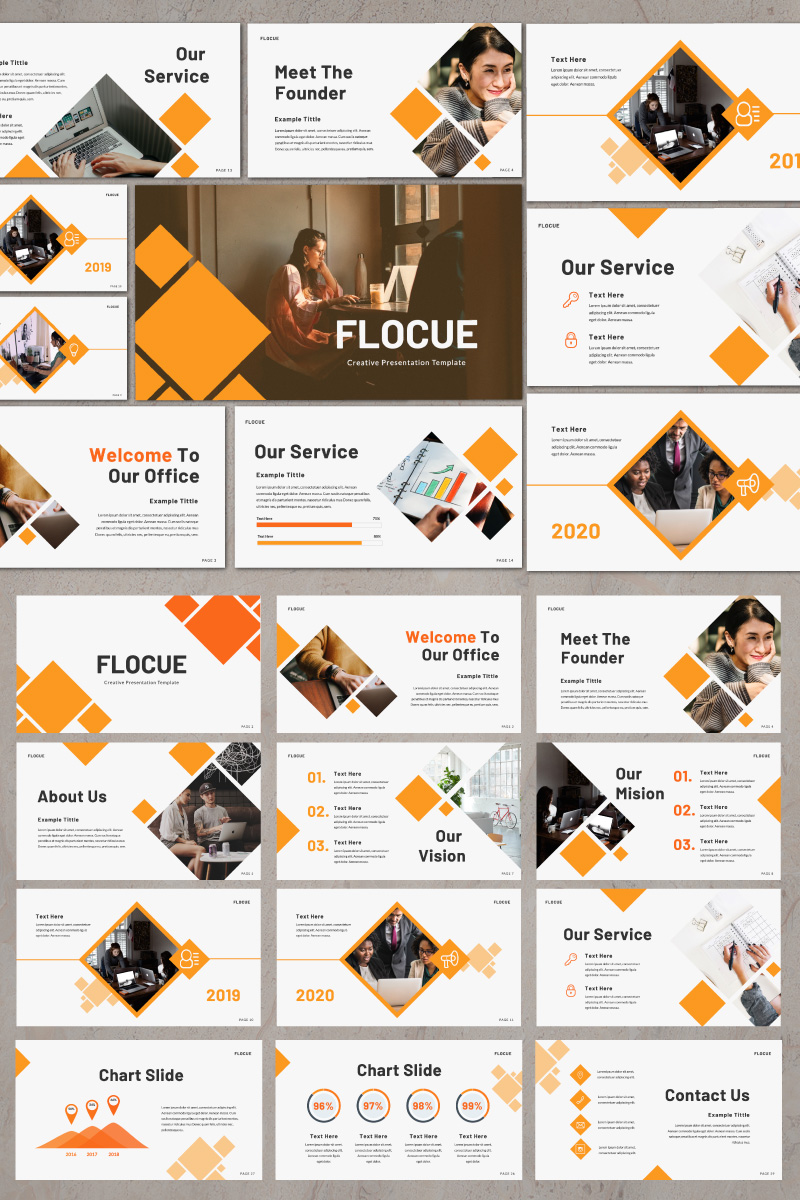 Flocue Presentation PowerPoint Template