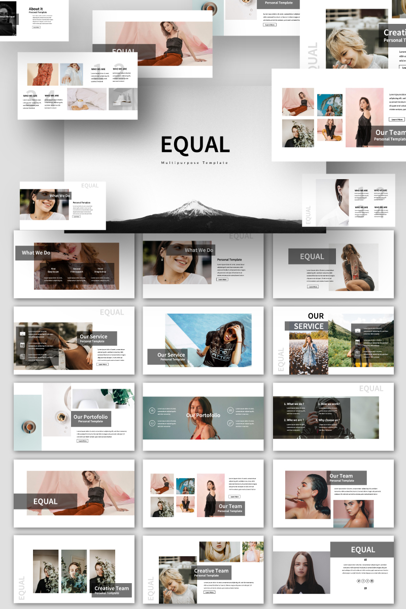 EQUAL Presentation PowerPoint Template