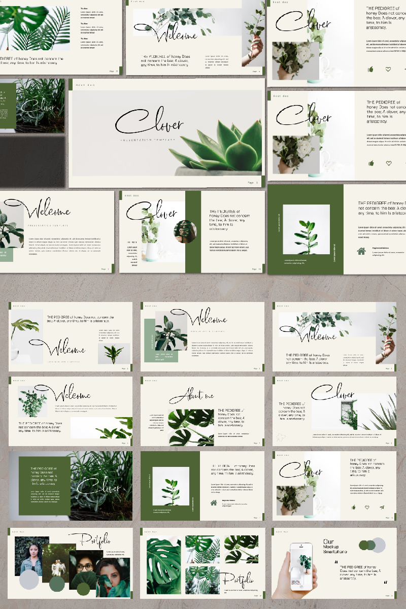Clover Presentation PowerPoint Template