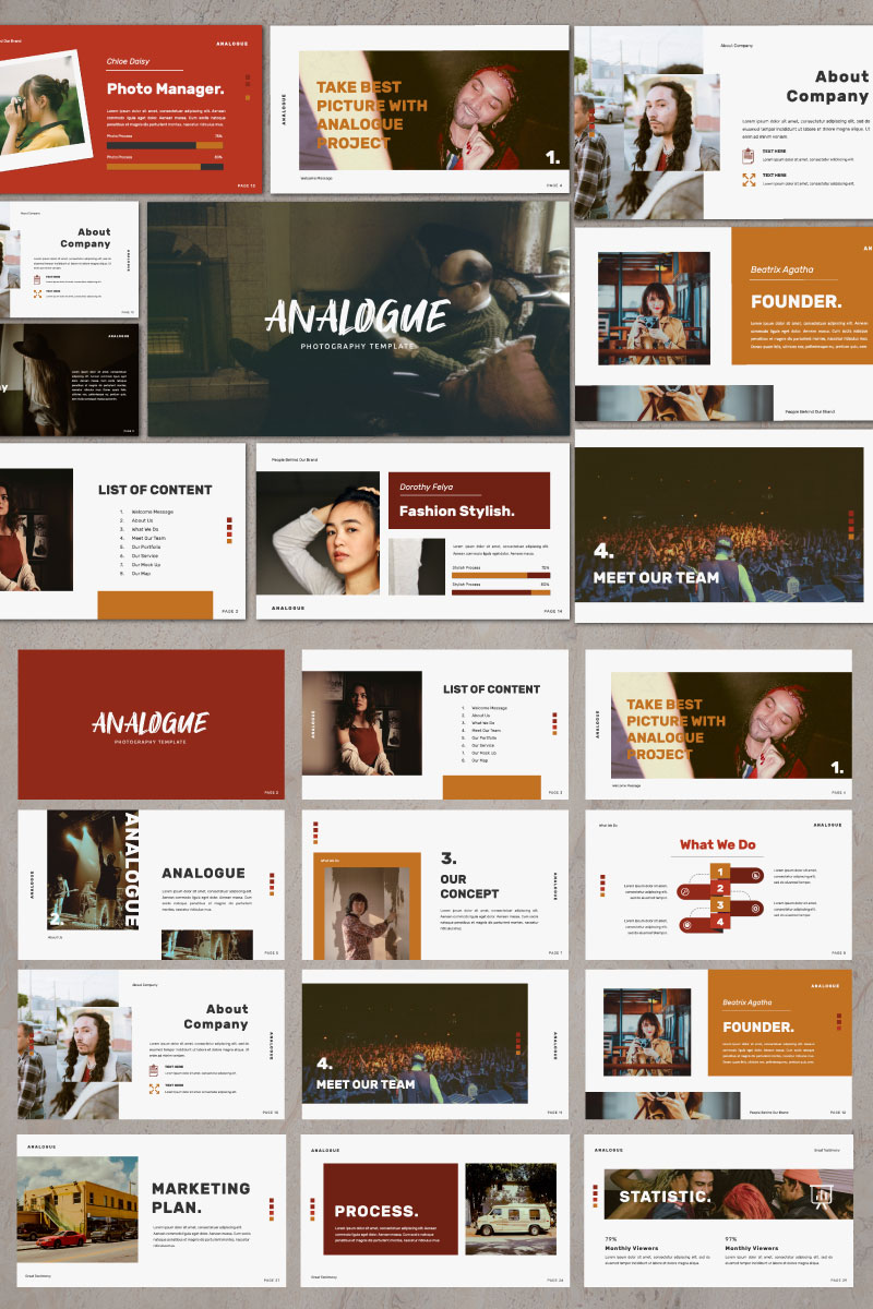 Analogue Presentation PowerPoint Template