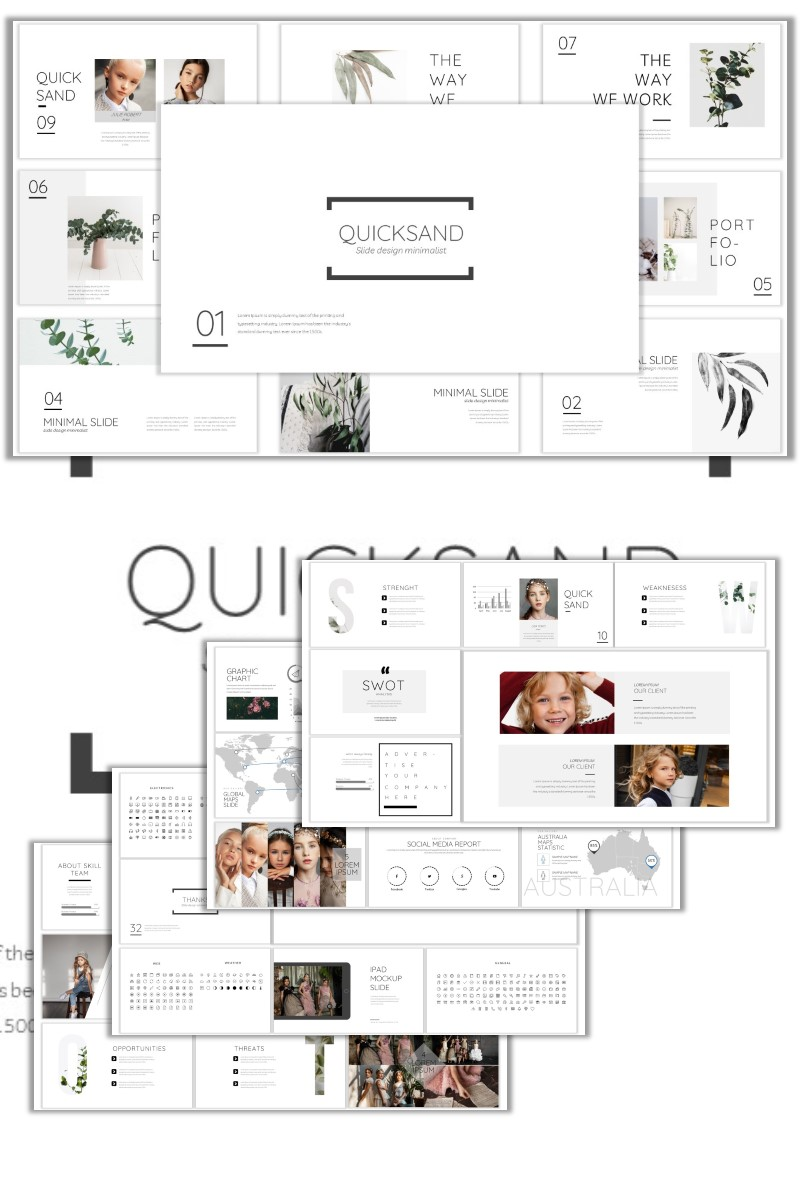 Quicksand PowerPoint Template