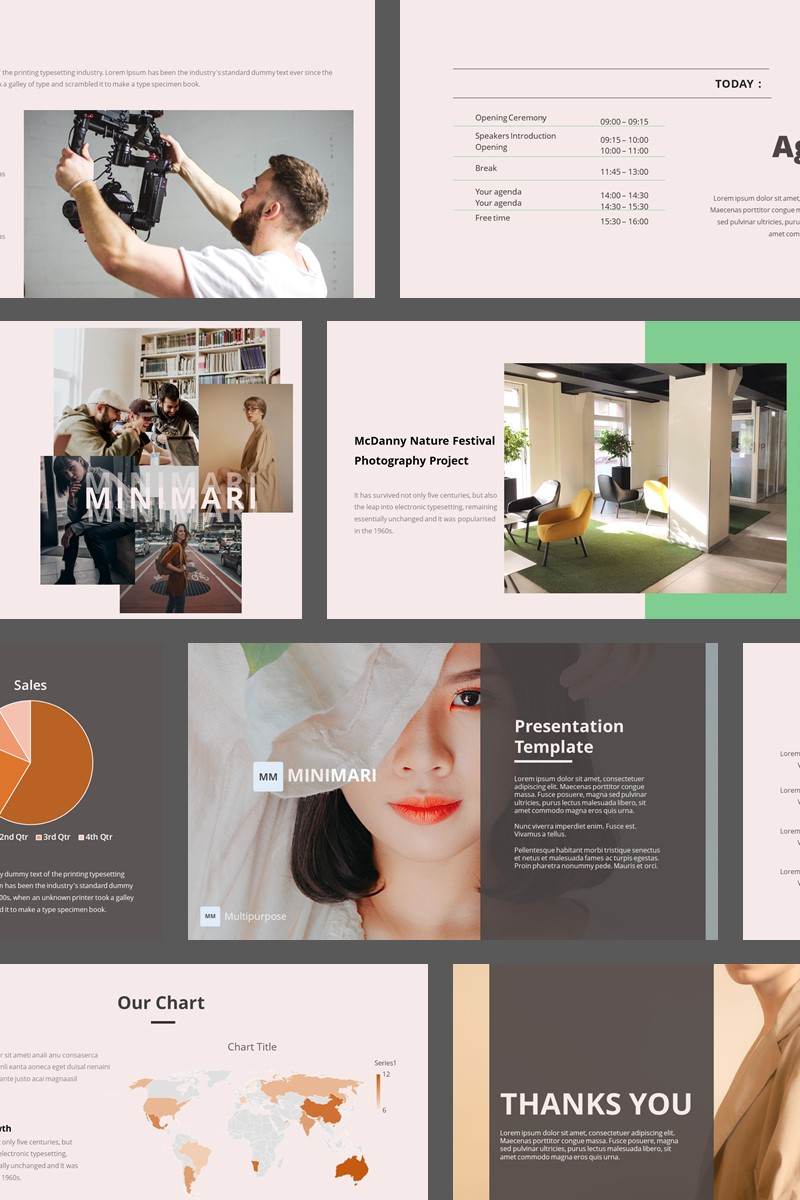 Minimari - Pitch Deck Multipurpose PowerPoint Template