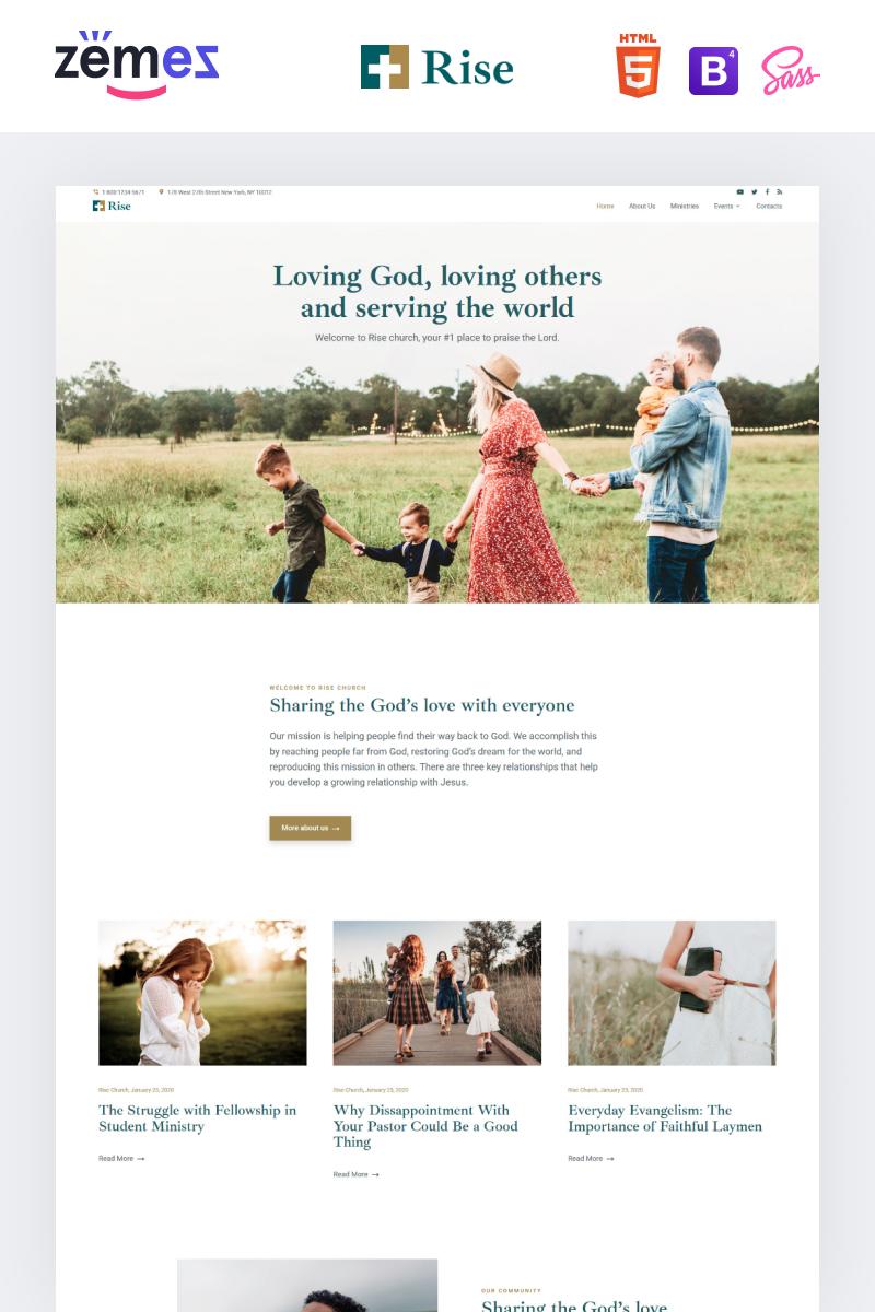 Rise - Responsive Church Website Template