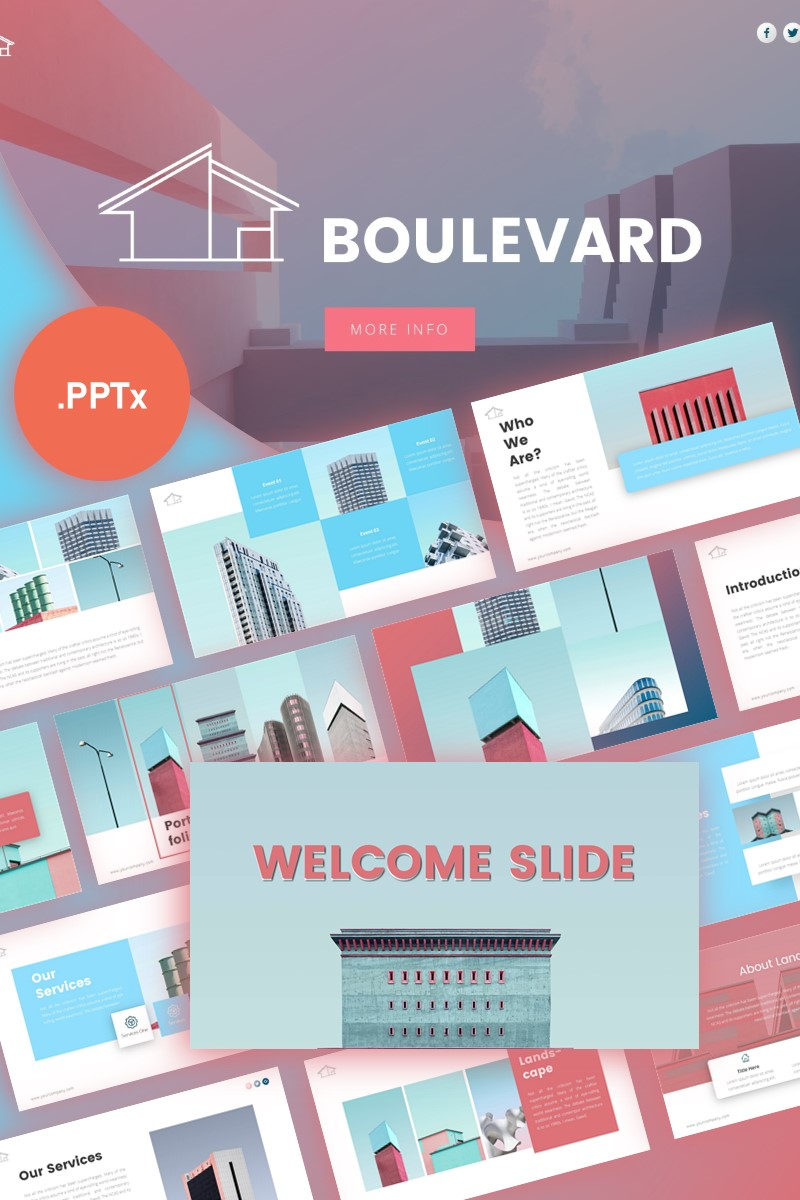 Boulevard Architecture Presentation PowerPoint Template