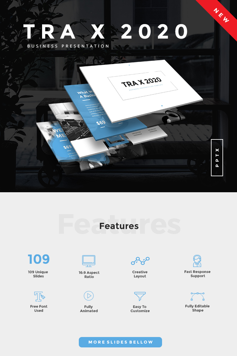 TRA X 2020 Business PowerPoint Template