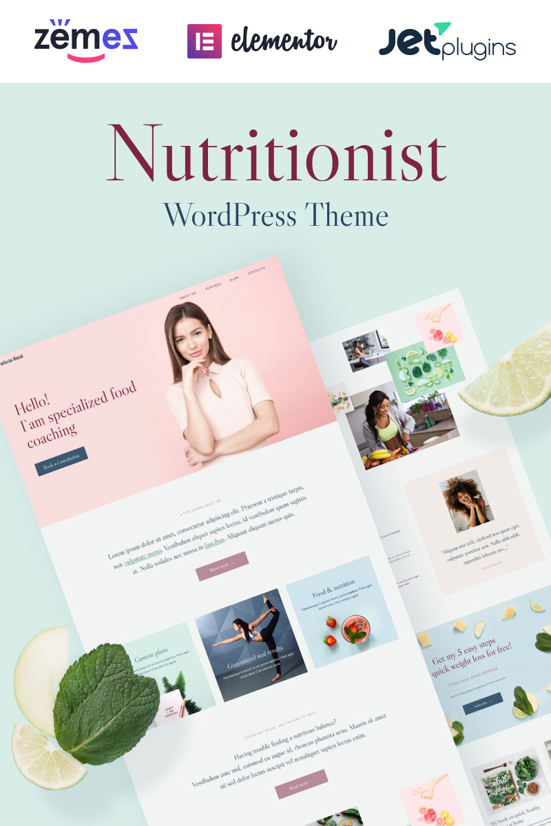 Healthera - Certified Nutritionist WordPress Theme