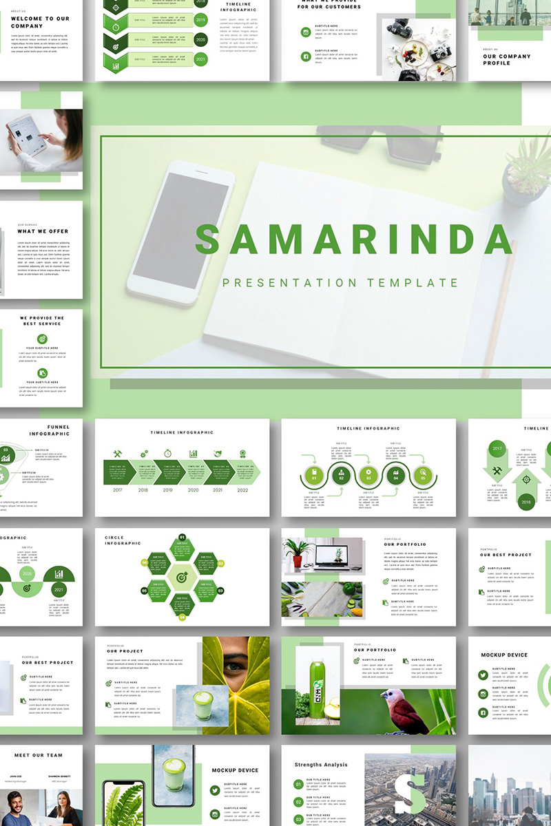 Samarinda - PowerPoint Template PowerPoint Template