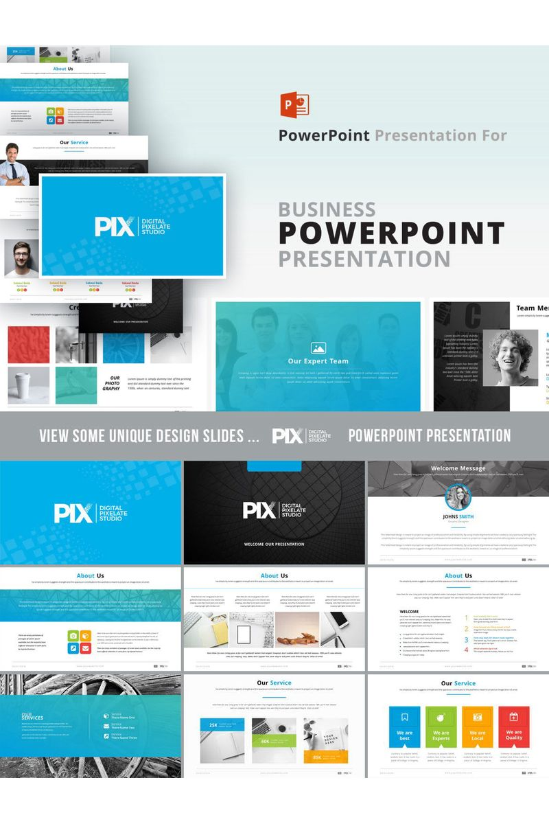 PIX  Presentation PowerPoint Template