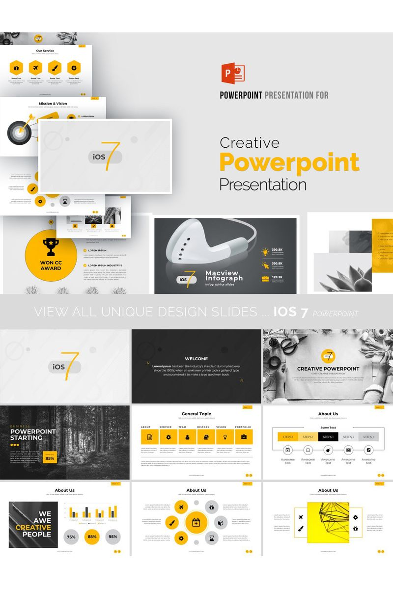 Creative Yellow  Presentation PowerPoint Template