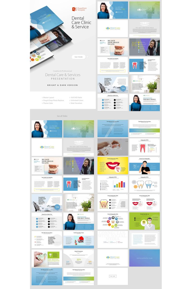 Dental Care Clinic Dentist Service PowerPoint Template