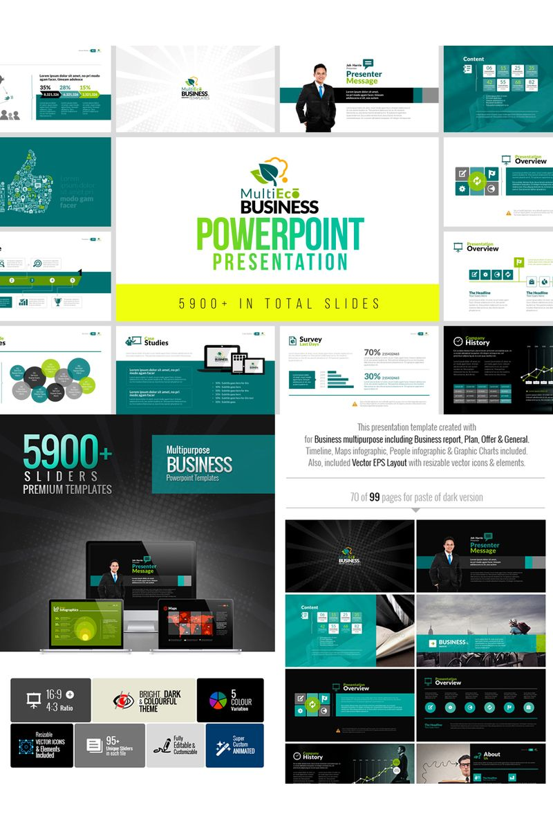 MultiEco | Business PowerPoint Template