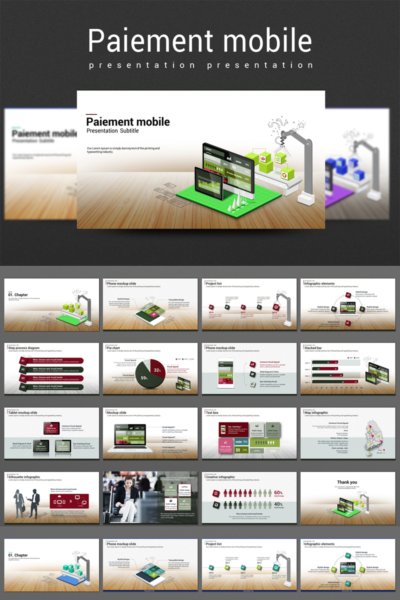 Paiement Mobile PowerPoint Template