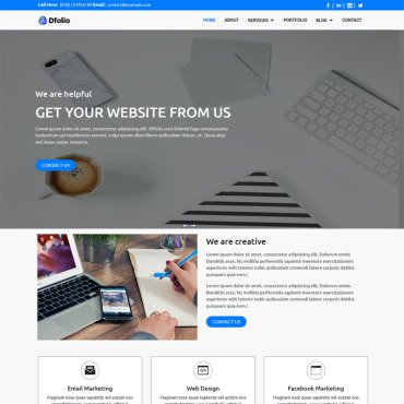 Template Web Design HTML, JS şi CSS #99871