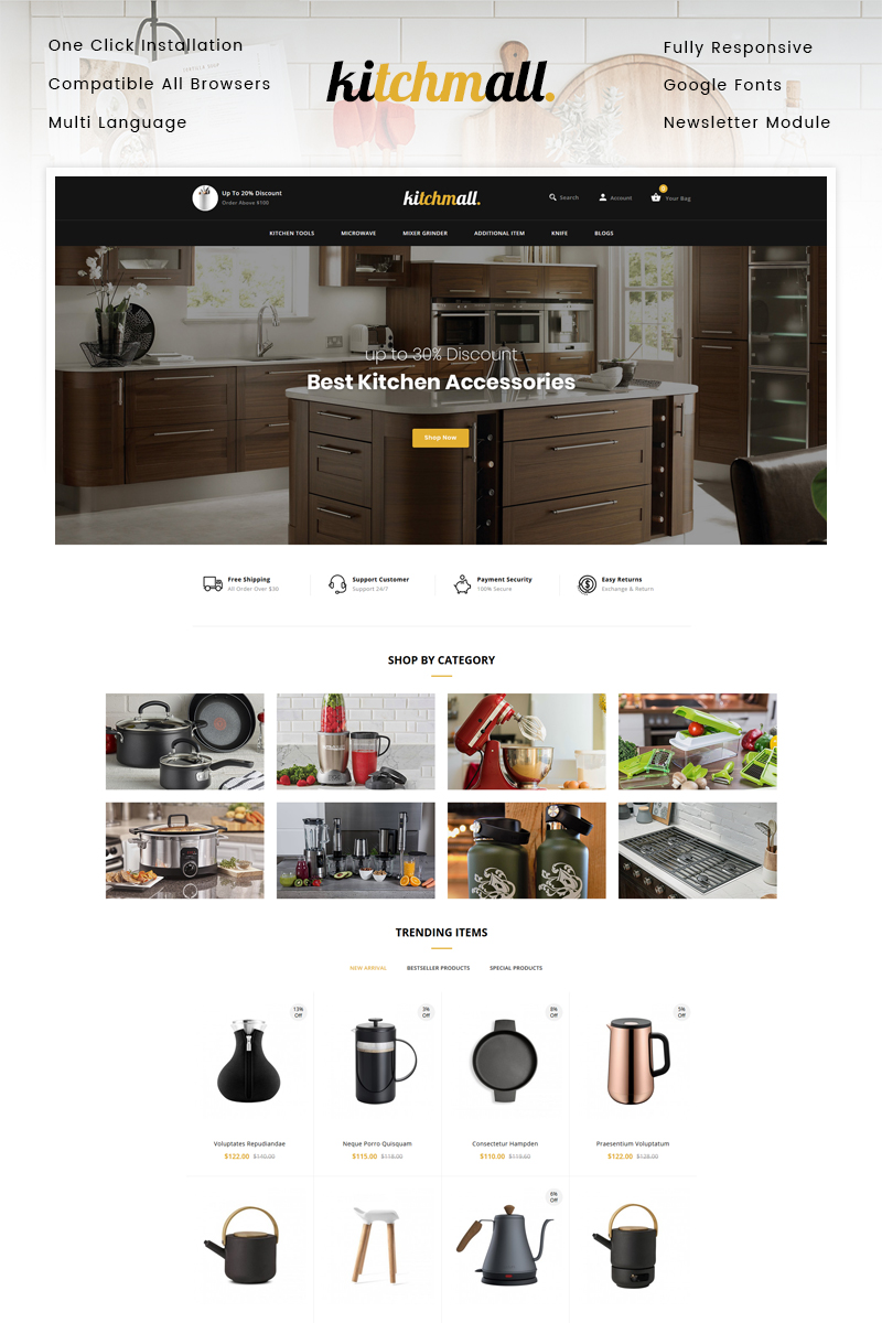 Kitchmall - Kitchen Store OpenCart Template