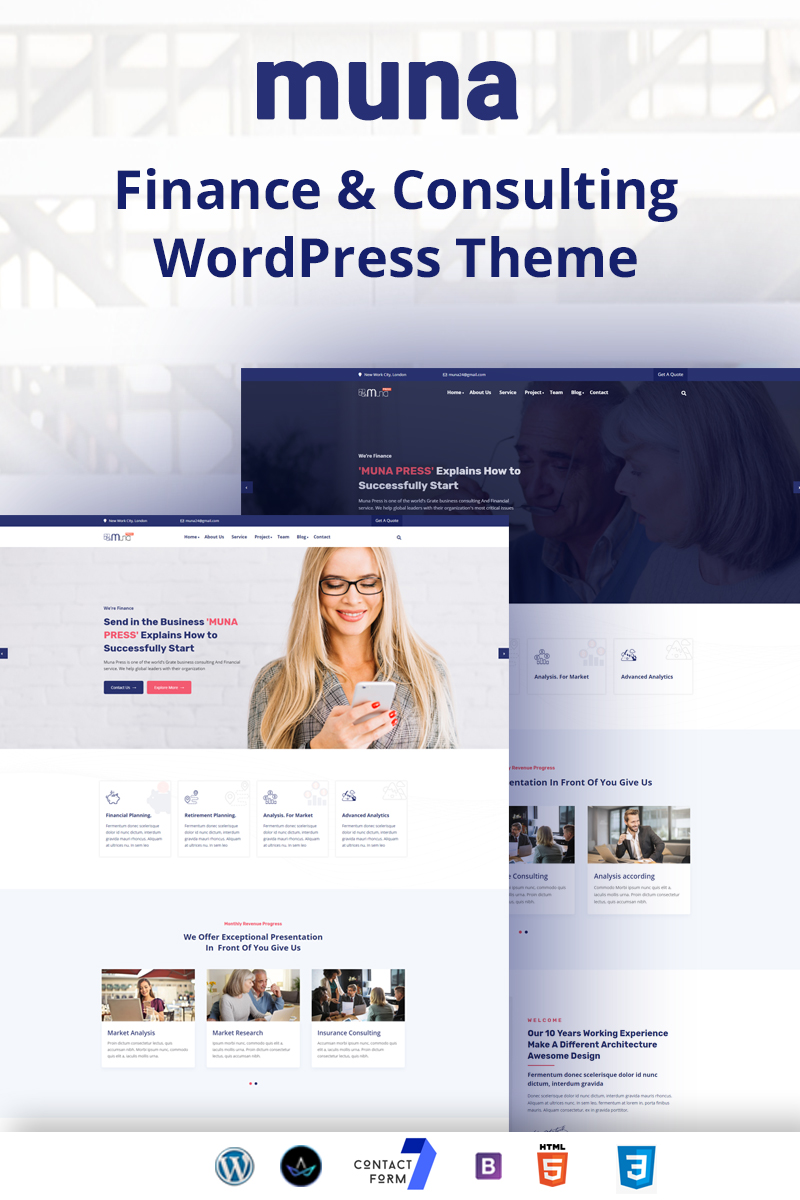 Muna - finance & Consulting Business WordPress Theme