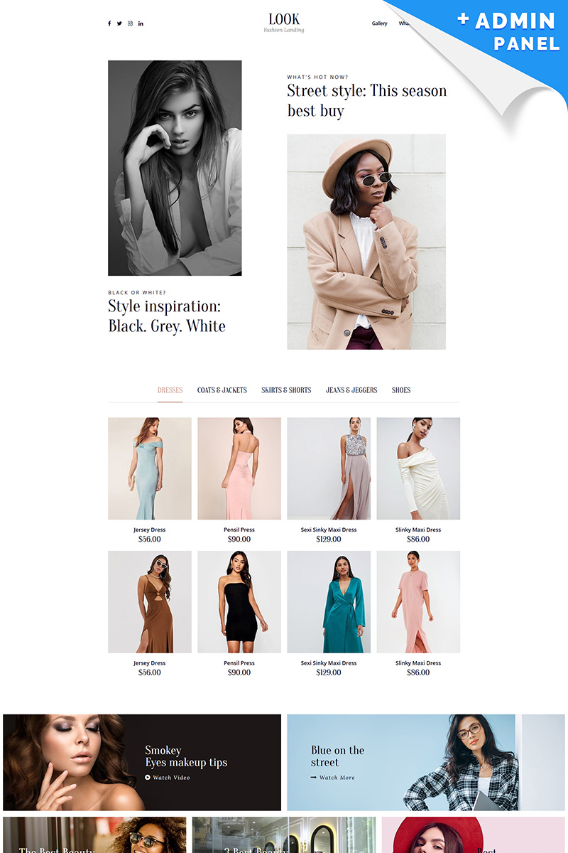Look - Fashion House Landing Page Template